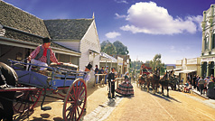 Sovereign Hill, Les Goldfields, Victoria, Australie